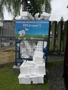 Ponto de coleta de EPS em Joinville (SC)