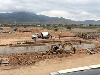 A nova unidade de produção de Technyl® da Solvay, em construção em San Luis Potosí, no México.