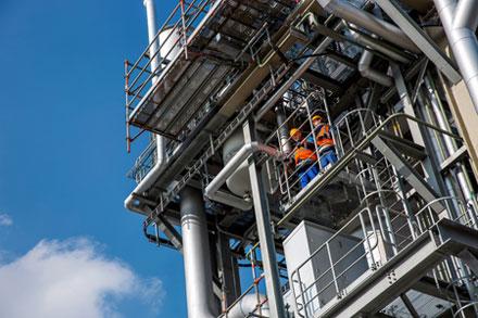 Planta de TDI da BASF em Ludwigshafen, na Alemanha